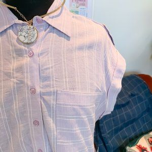 🆕🌹 Dex | Lilac Stripe Button Up